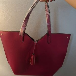 Neiman Marcus Tote bag cherry red